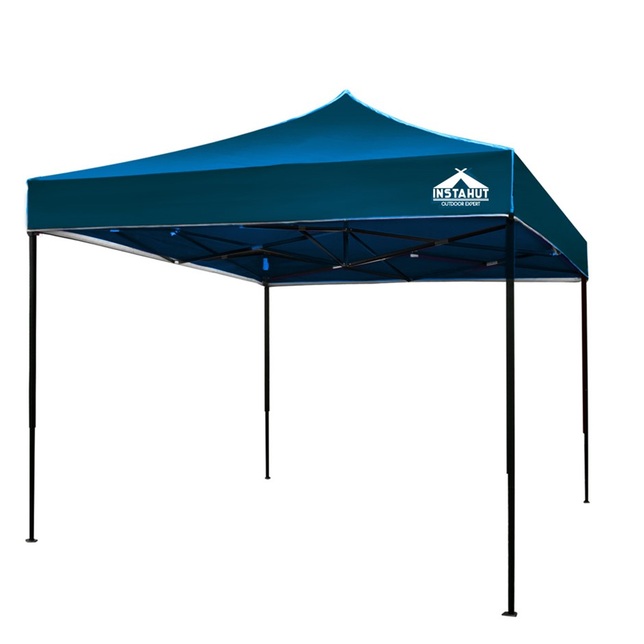 Instahut Pop Up Gazebo 3x3 Tent Folding Wedding Marquee Gazebos Sailor Blue