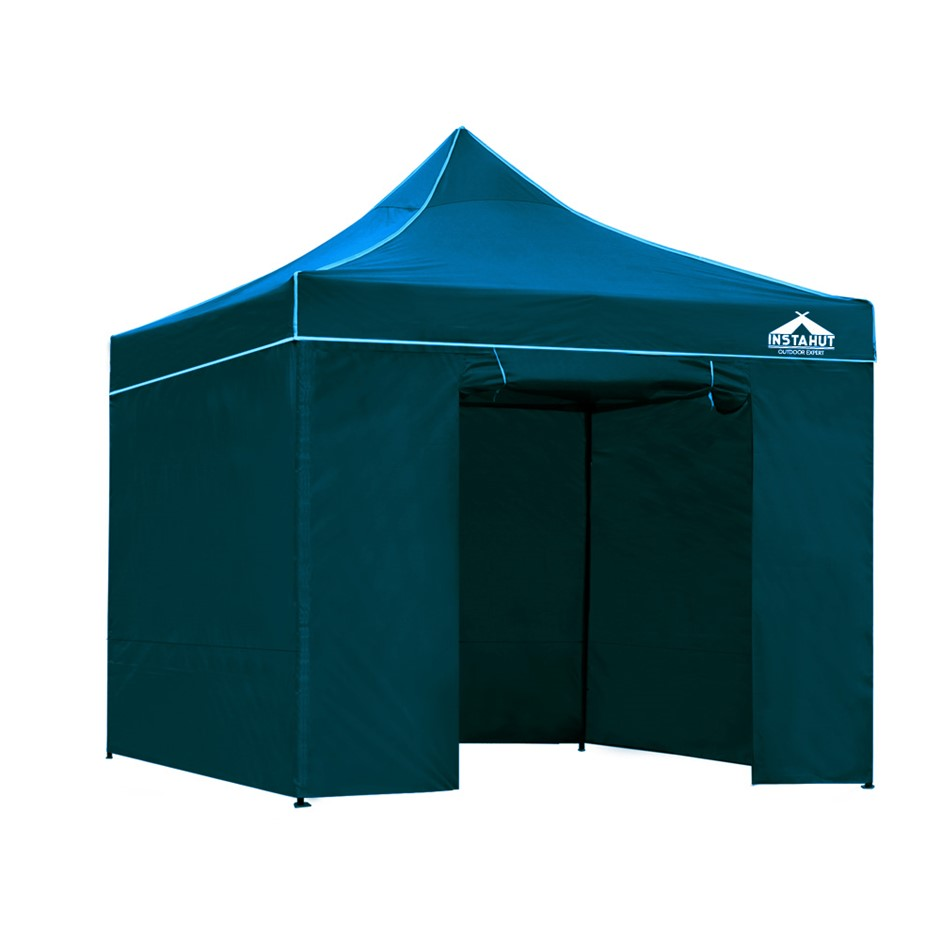 Instahut Pop Up Gazebo 3x3 Wedding Marquee Tent Wall Gazebos Sailor Blue