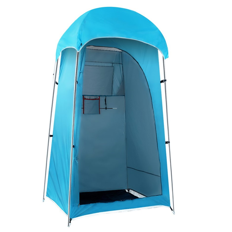 Weisshorn Camping Shower Tent Outdoor Portable Changing Room Ensuite Blue