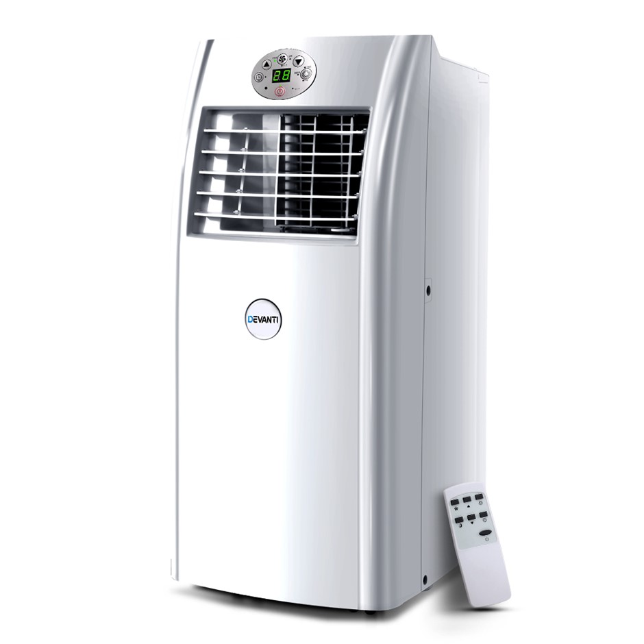Devanti Portable Air Conditioner 4-In-1 Mobile Fan Dehumidifier 18000BTU