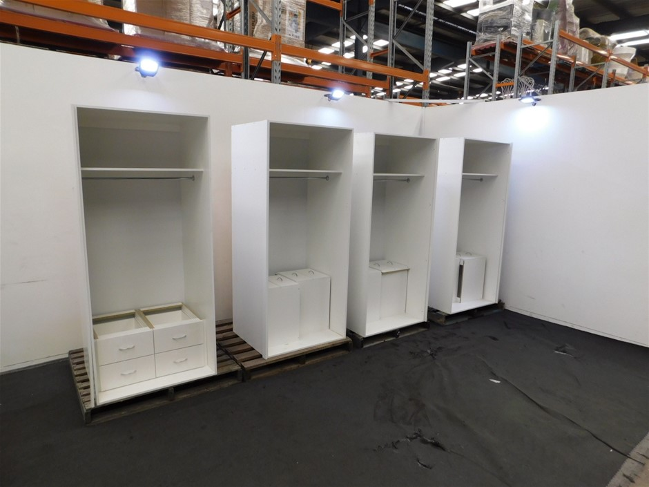 Qty 4 x Incomplete Wardrobe Units
