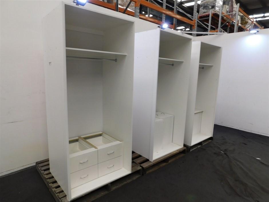 Qty 3 x Incomplete Wardrobe Units