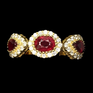 Spectacular Genuine Blood Ruby Ring.