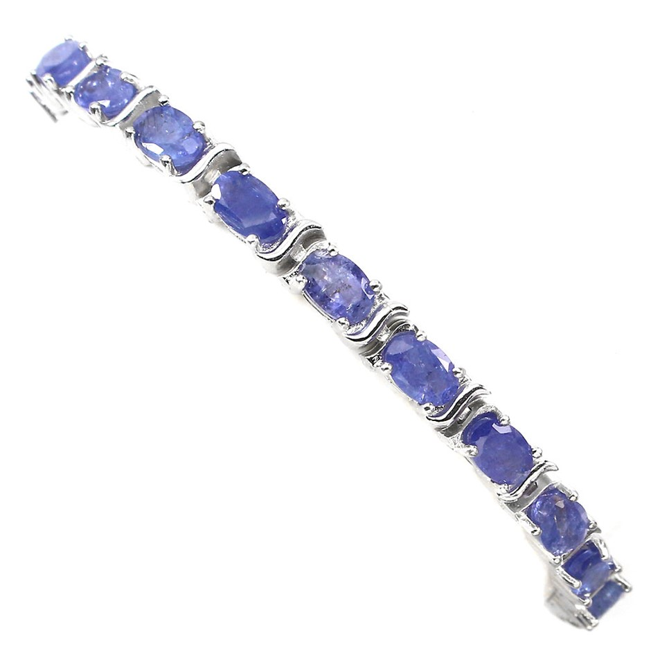Gorgeous Genuine Tanzanite Tennis Bracelet