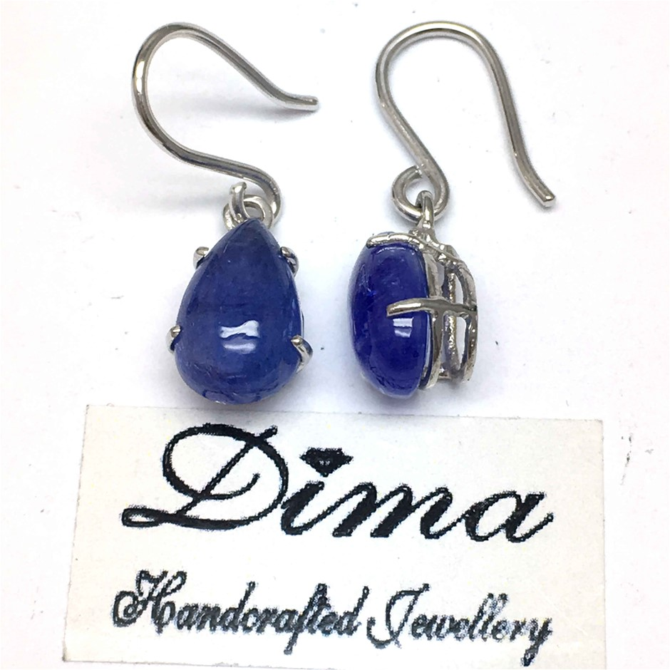18ct White Gold, 8.30ct Tanzanite Earring