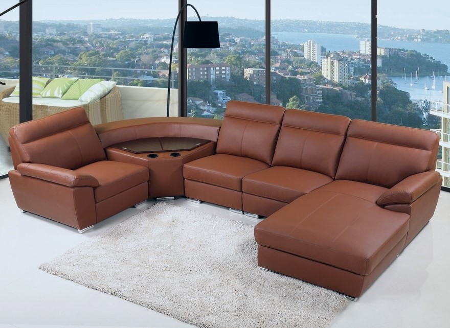 Bern - Comfort Corner Lounge with chaise and storage, Brown