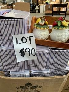 Porcelain Jar Sets with wooden holder
