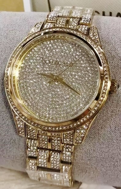 Ladies stunning new gold plated Michael Kors Couture NY 'Lauryn' watch.