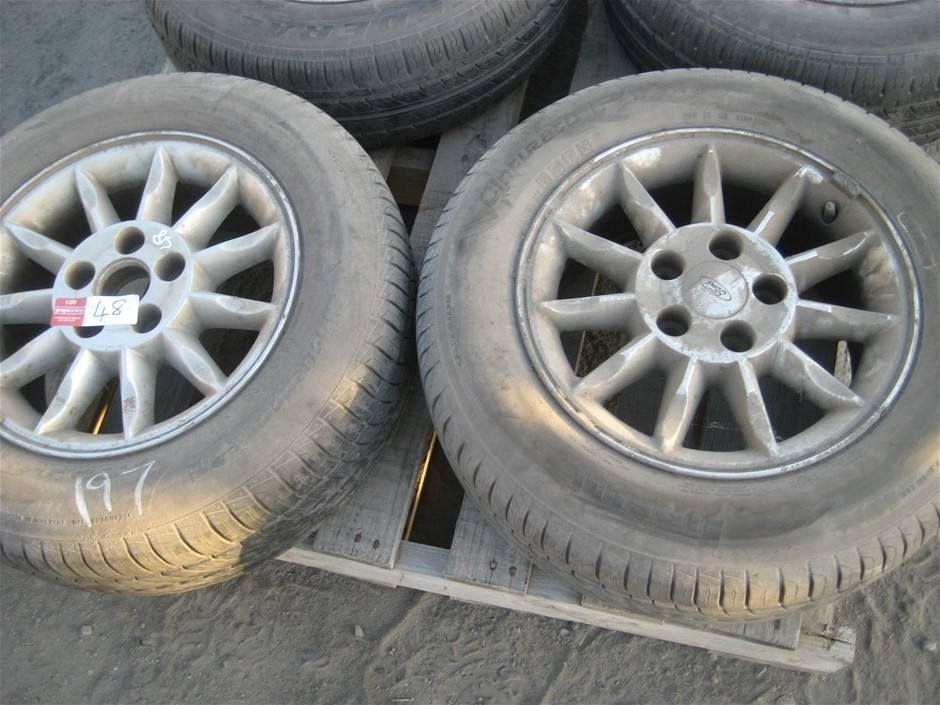 Tyres. 2 x Car Tyres on mags