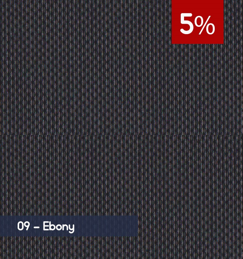 Premium 3m x 30m Roll of Blind - Ebony (5% OPENNESS)