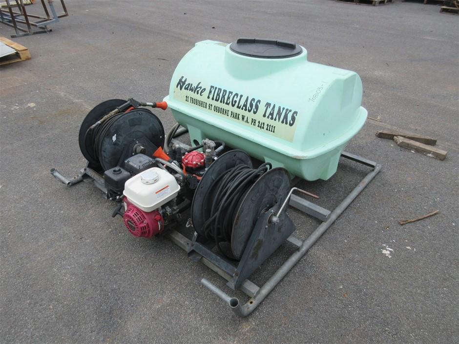 Petrol Spray Unit on Steel Bracket