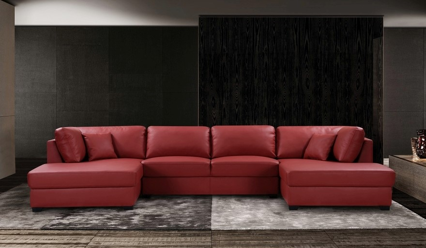 Comet Lounge with Two Chaises - Red