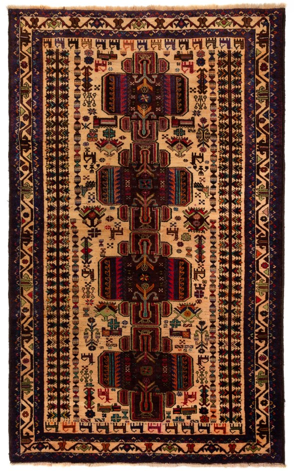 Tribal Baluchi Hand Knotted Rug Size (cm): 116 x 196