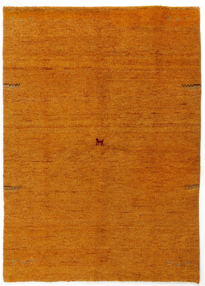 Hand Knotted Indian Gabbeh Rug - Extra Thick And Heavy Size (cm): 140 x 200