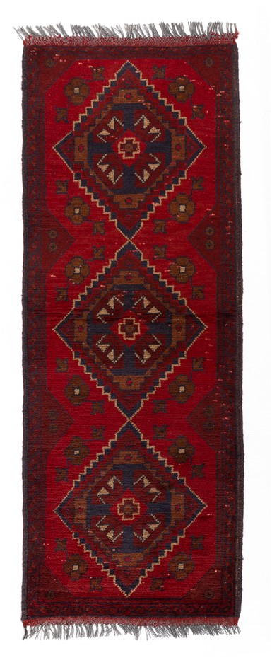 Afghan Khal Mohomadi Hand Knotted Rug Size (cm): 50 x 150