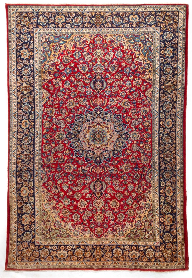 Persian Najafabad Hand Knotted Rug Size (cm): 230 x 350