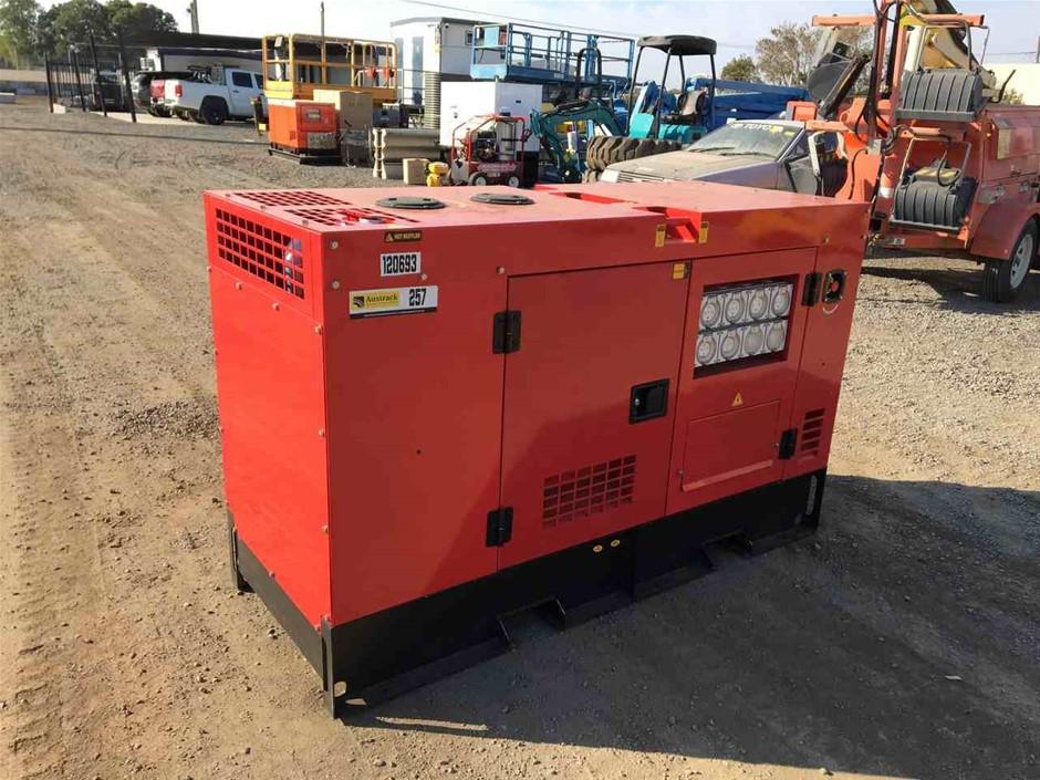 2019 Silent Diesel Generator: GE 150 9001 APW 25 Diesel Genset
