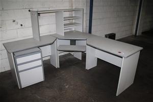Corner Office Desk with Shelving