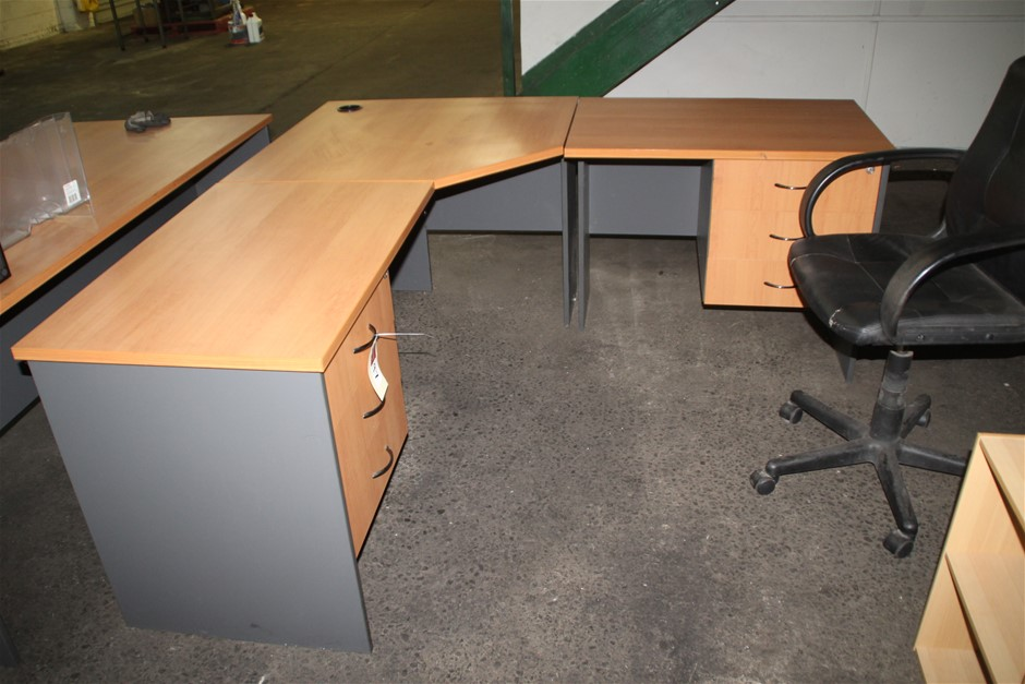 Qty 2 x Assorted Office Desk