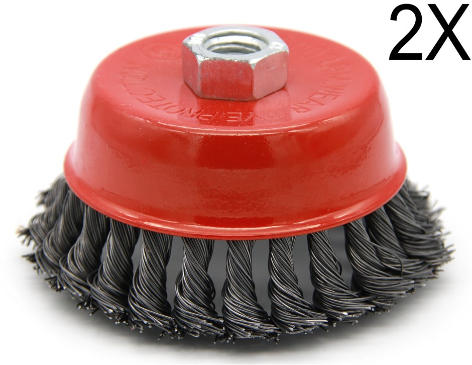 2 x 4 Inch Steel Wire Wheel Brush Cup