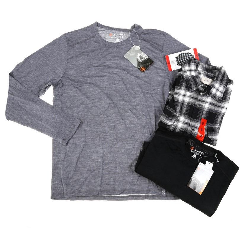 3 x Assorted Men`s Clothing; Comprising; 1 x JACHS Jacket, 2 x CLOUDVEL Top