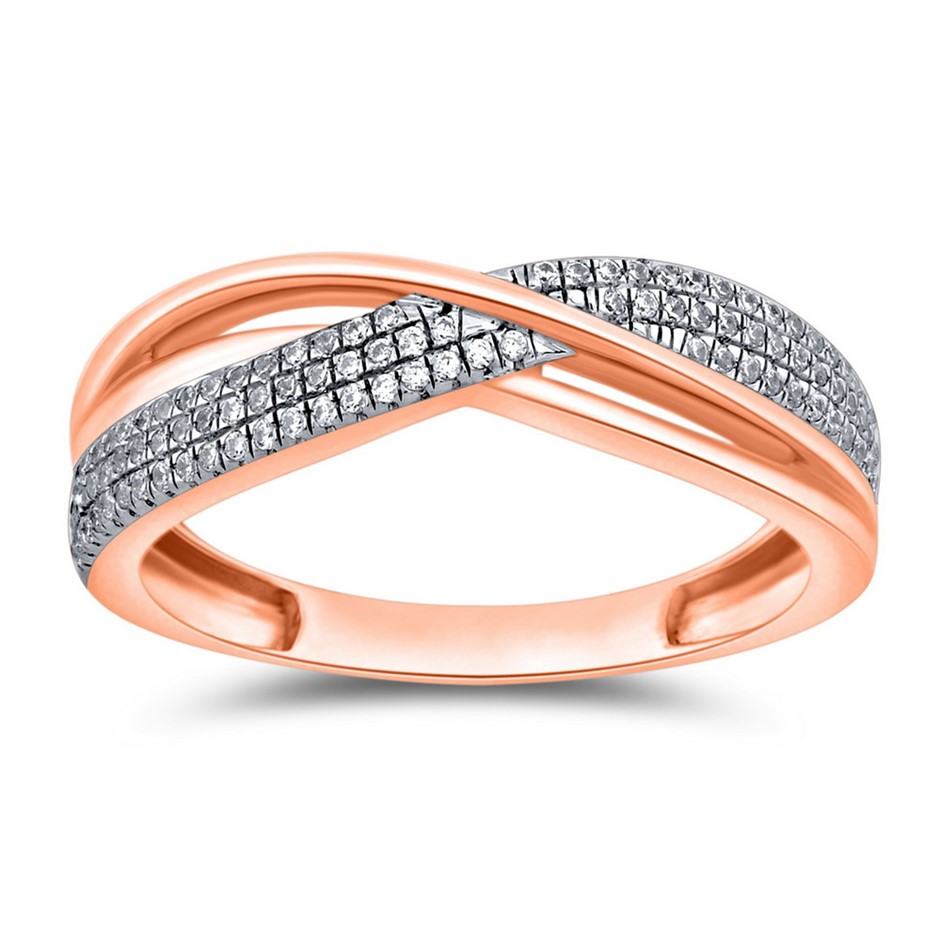 9ct Rose Gold, 0.10ct Diamond Ring