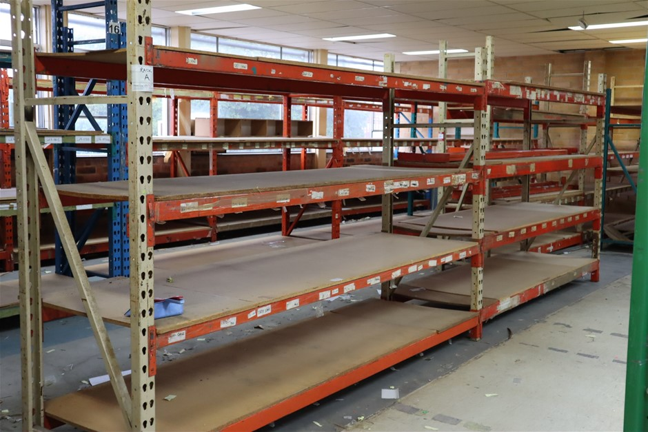 3 x Bays Mixed Unbranded Pallet Racking