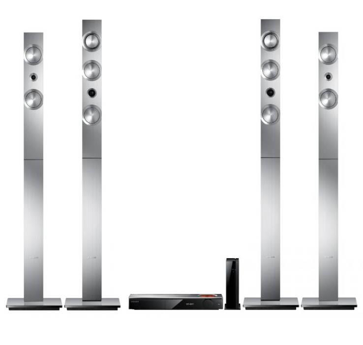 SAMSUNG 3D Blu Ray Home Theatre System Model HT-F9750W c/w Remote. N.B. Not
