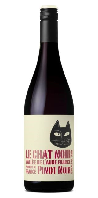 Le Chat Noir Pinot Noir 2018 (12 x 750mL), France.