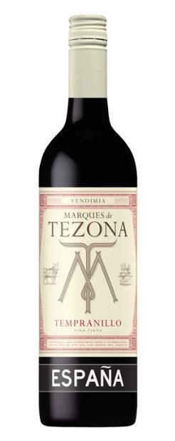 Marques de Tezona Tempranillo 2018 (12 x 750mL), Spain