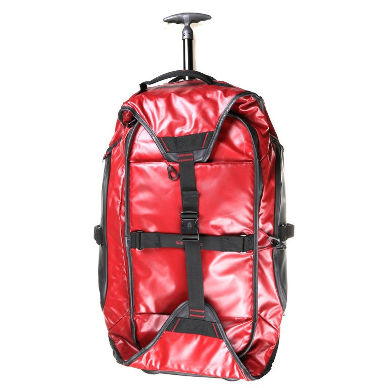 SAMSONITE Heavy Duty Duffle Bag 70cm, PVC Fabric, Red with Black, Side Carr