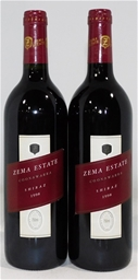 Zema Estate  Shiraz 1998 (2x 750ml), . Cork closure.
