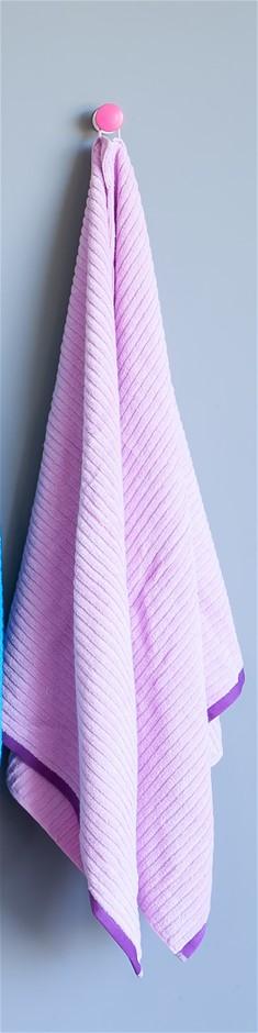 Shine Bath Towel (Set of 2 - 1 x Lilac, 1 x Green)