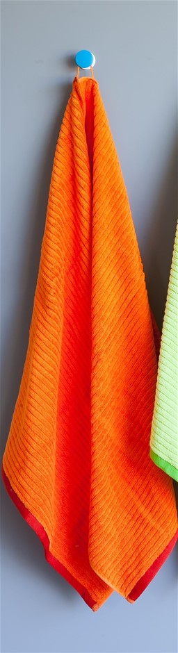 Shine Bath Towel - Orange (Set of 2)