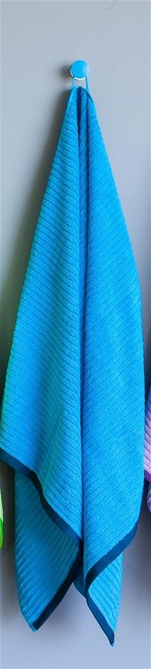 Shine Bath Towel - Blue (Set of 2)