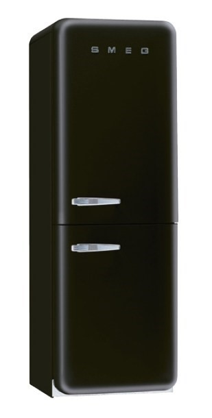 Smeg 330L Retro Style Black Refreigerator - Model FAB32LBLNA1