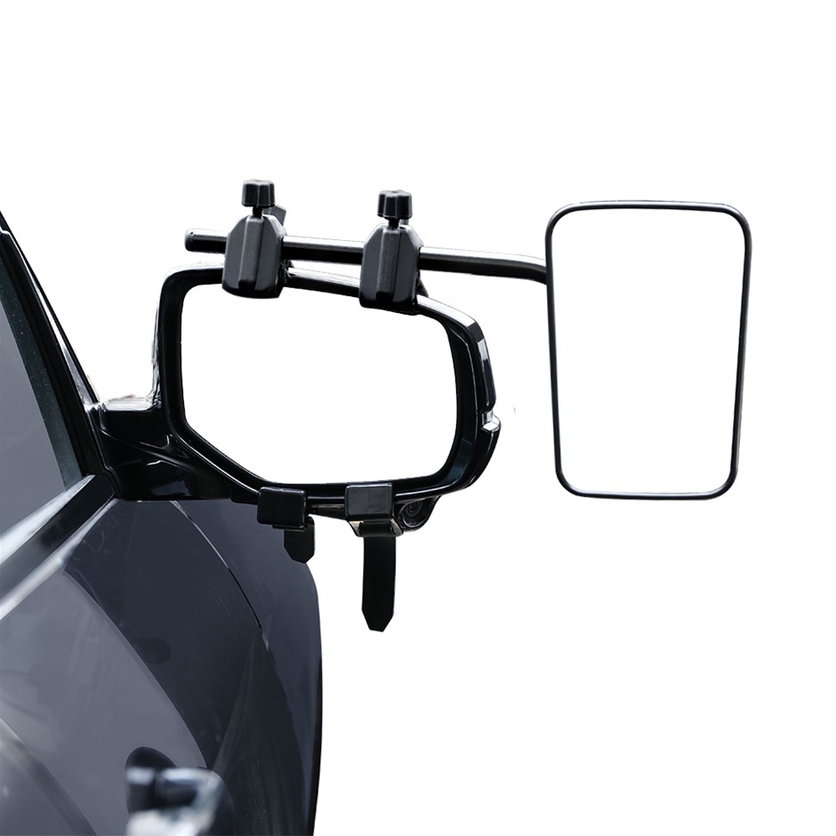 2 x Towing Mirrors Universal Multi Fit Strap On Towing Caravan 4X4 Trailer