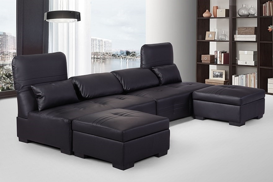 Ritmo multi-function lounge set, Black