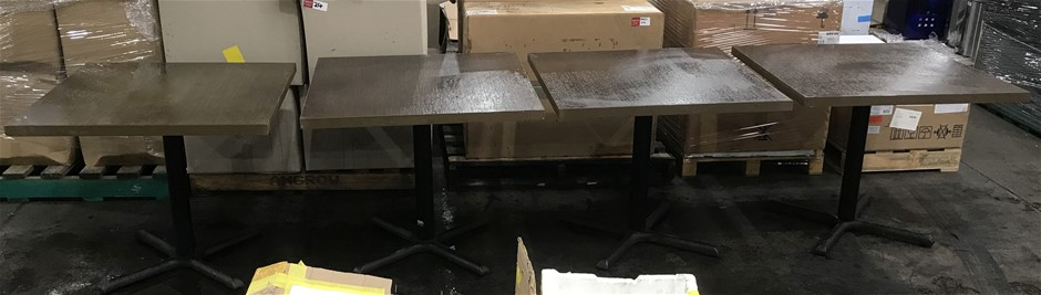 Qty 4 x Square restaurant table
