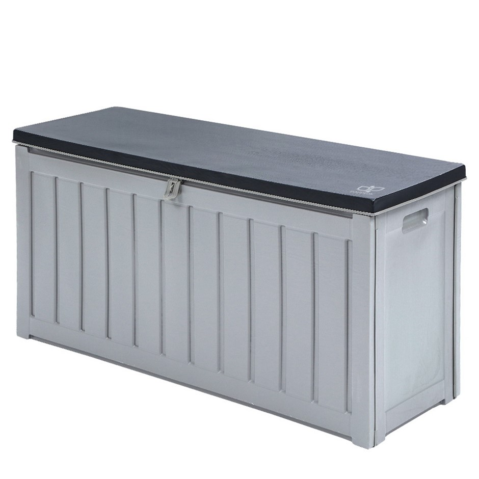 Gardeon Outdoor Storage Box Bench Seat Lockable 240L