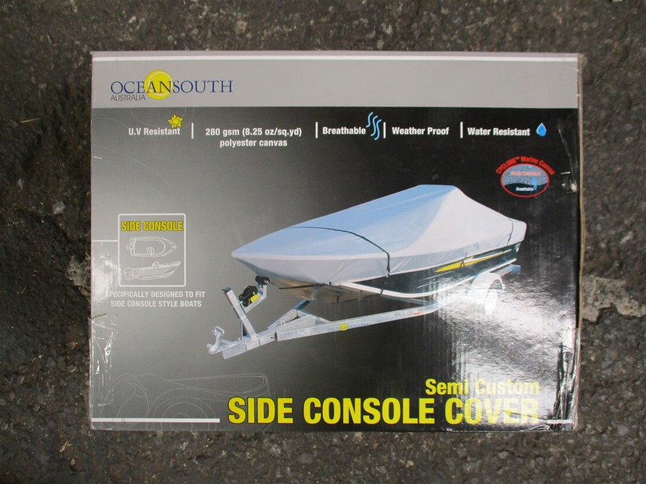 Ocean South Side Console Boat Cover