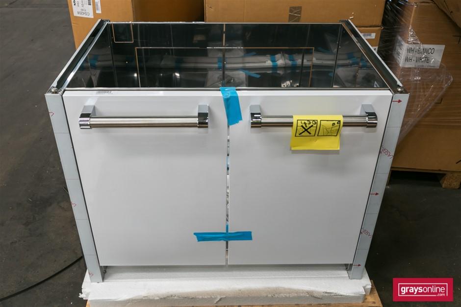 1 x Steel G9BS Under Bench Cabinet - 2 Door - White Finish