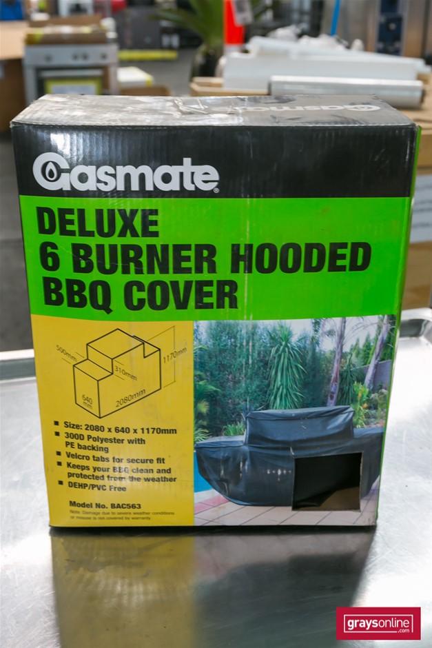 1 x 300D Polyester 6 Burner Hooded BBQ Cover - Gasmate Brand