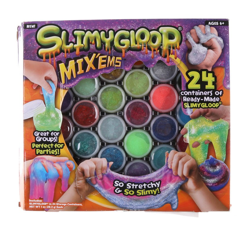 SLIMYGLOOP Mix`ems 24 Containers of Ready-Made Slimygloop, Ages 6+. 28.3g e