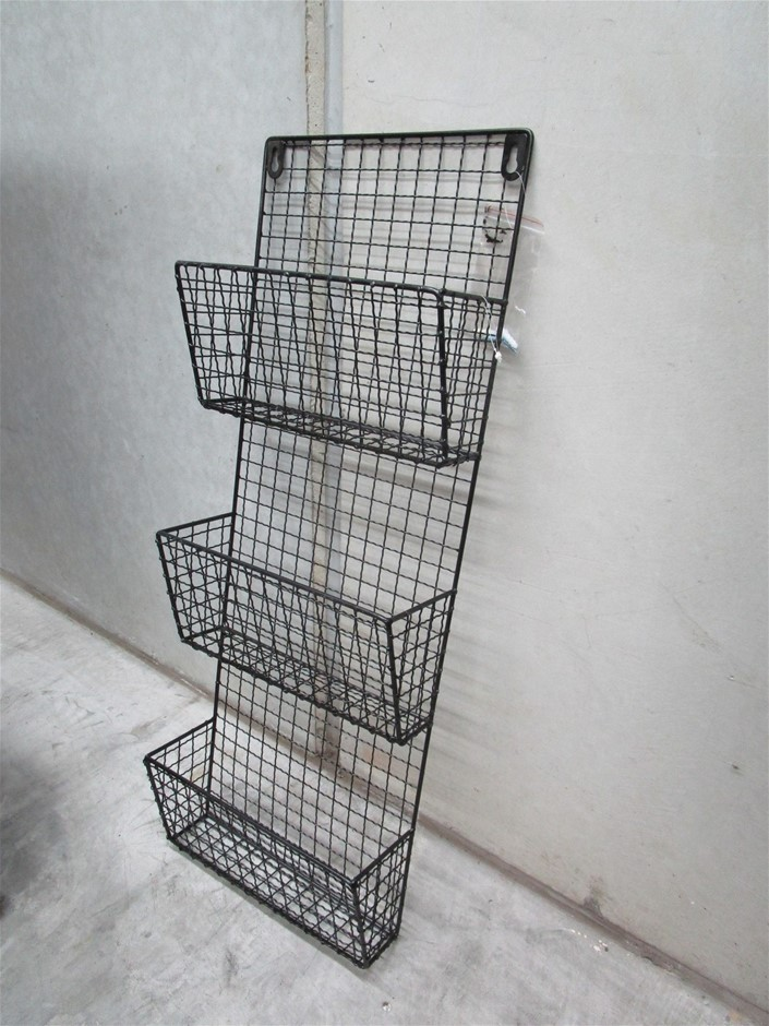 Pallet of Approximately 24 Wire Hanging Magazine Racks