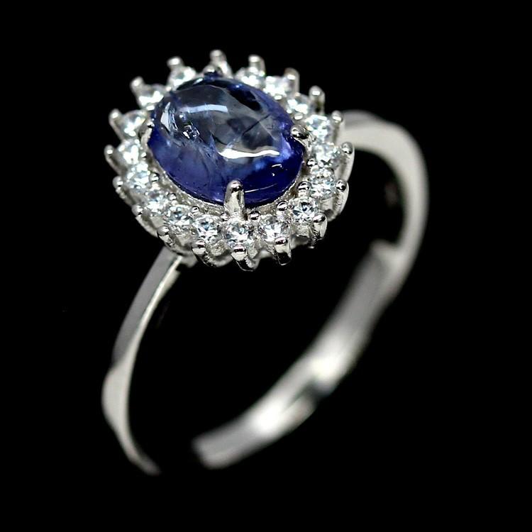 Delightful Genuine Tanzanite Solitaire Ring.