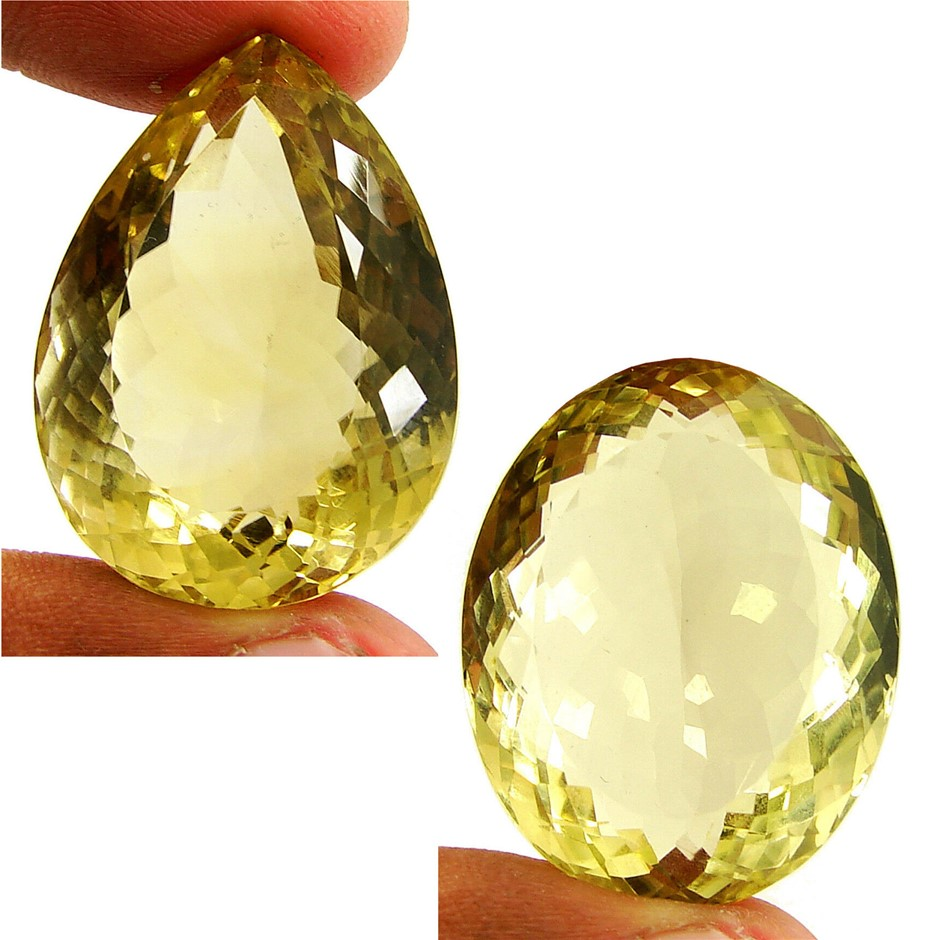 Two Loose Pear and Lemon Quartz 167.97ct in Total