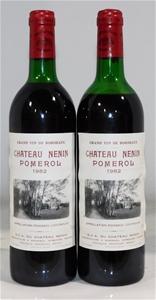 Chateau Nenin Pomerol 1982 (2x 750ml), B