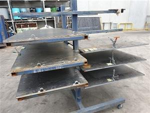 Nine Teir Steel rack on castors with cla