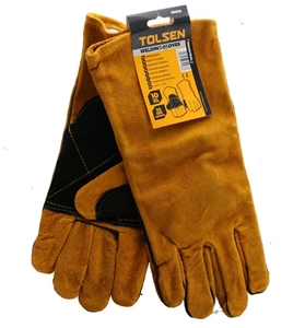 2 x Pairs TOLSEN Leather Welders Gloves,